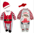 2015 New Christmas Baby romper,autumn winter clothing sets baby boy girl clothes newborn new year christmas man jumpsuit