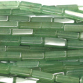 "Genuine Natural Green Aventurine Jade Square Rectangle Shape Loose Stone Beads Fit Jewelry DIY Necklaces or Bracelets 15"" 03743"