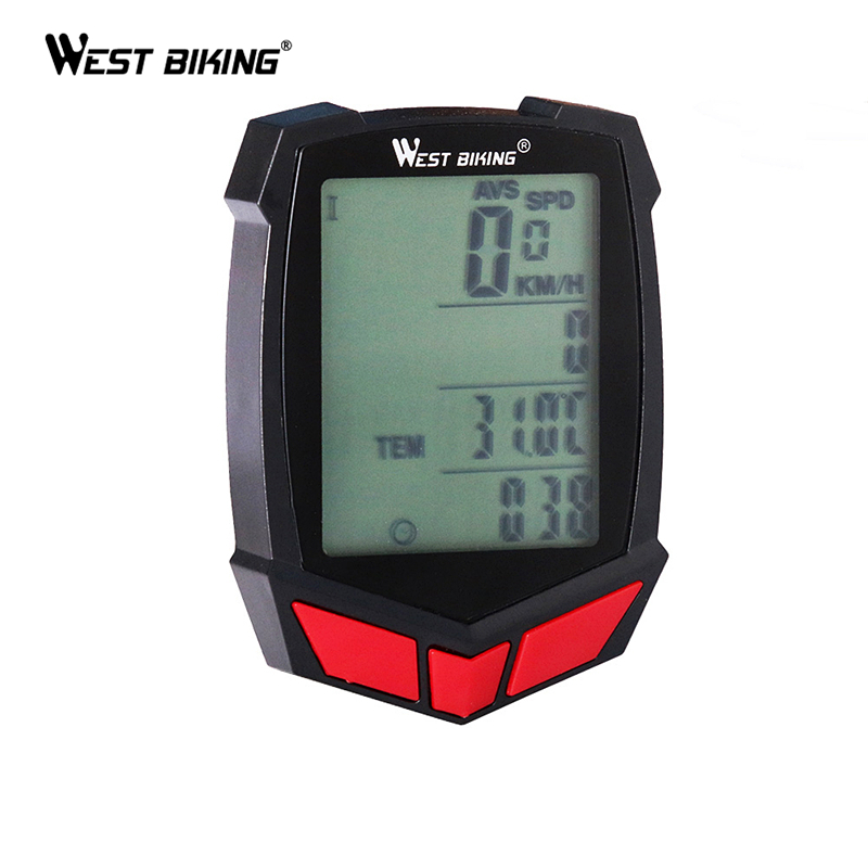 WEST BIKING Waterproof Wired/Wireless Touch Screen Meter Cycling Speedometer Odometer Bicycle Accessory Bicycle Bike Computer