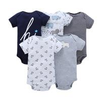 5pcs Lot Baby Romper Short Sleeve Cotton Boy Girl Clothes Wear Jumpsuits Clothing Set Body Suits