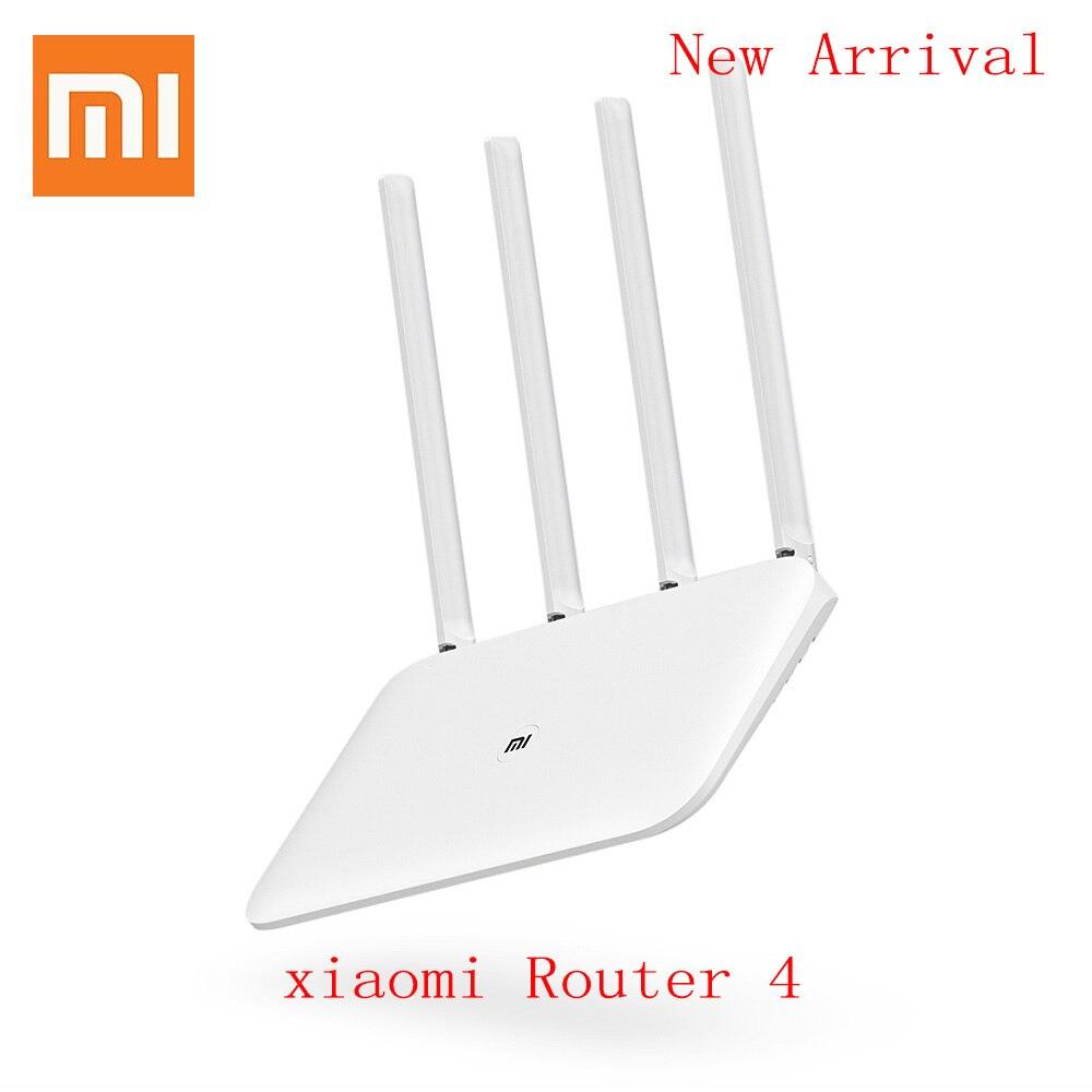 Xiaomi Mi Routeur 4 Répéteur WiFi 1167 Mbps Sans Fil Double Bande 2.4/5 ghz 4 Antennes Dual Core 802.11 télécommande Wifi Mi Routeur