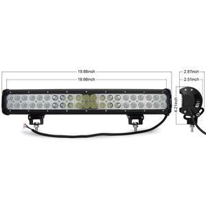 Image 5 - Safego 20 inch led light bar 126w work light for off road truck tractor boat suv atv driving working light 12v 24v combo beam