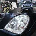 HochiTech Отлично Ультра-яркий лампы подсветки CCFL Angel Eyes Комплект для Ssangyong Rexton 2006 до 2011