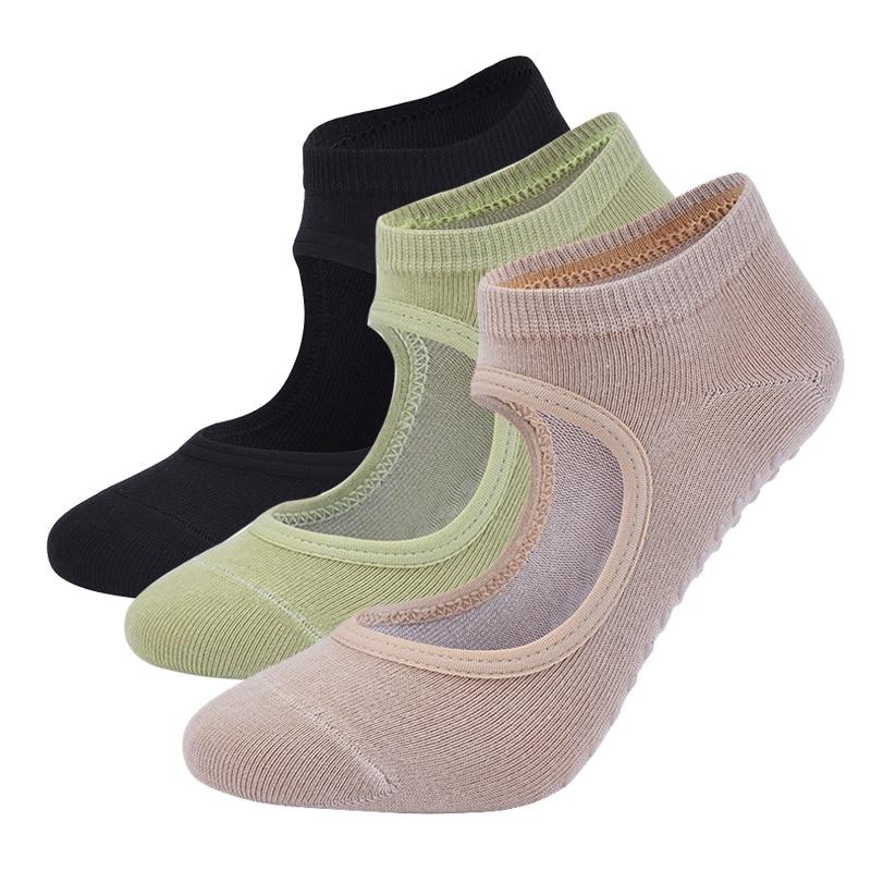 Women High Quality Pilates Socks Anti Slip Breathable Backless Yoga Socks Ankle Ladies Ballet Dance Sports Socks for Fitness Gym|Yoga Socks|   - AliExpress