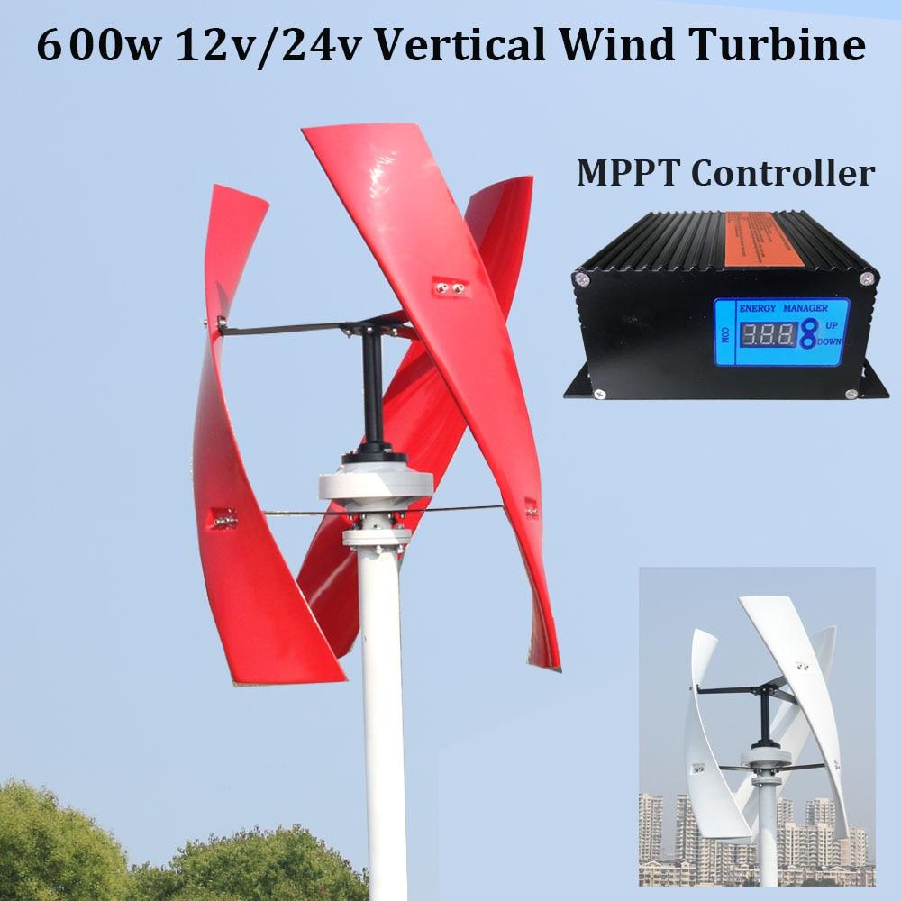 FLTXNY 600 w turbina di vento verticale levitazione Magnetica 12 v 24 v 1.5 m start up 250 RPM nessun rumore con alta efficienza