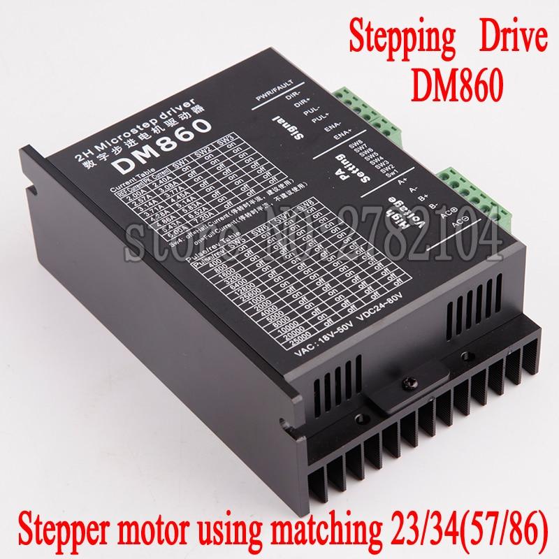Stepper motor driver cintroller DM860 microstep motor brushless DC motor shell for 57 86 stepper motor Nema23 Nema34 stepper motor driver cintroller dm860 microstep motor brushless dc motor shell for 57 86 stepper motor nema23 nema34