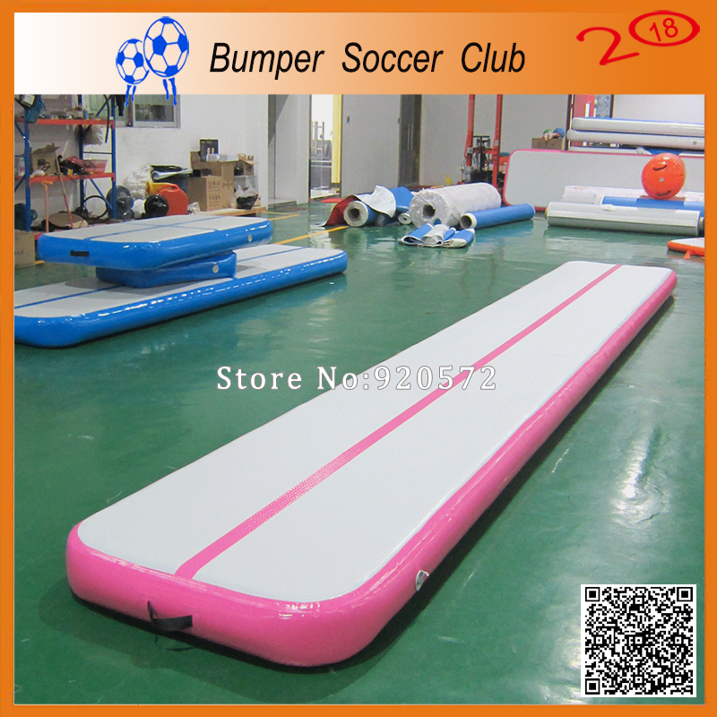 Free Shipping 5m Pink Inflatable Cheap Gymnastics Mattress Gym Tumble Airtrack Floor Tumbling Air Track For Sale free shipping 6 2m inflatable gym air track inflatable air track gymnastics