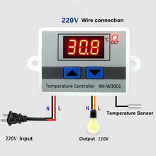 XH-W3001 W3001 Temperature Controller Digital LED AC 220V Thermometer Thermo Controller Switch Probe Max 10A NTC10K(China)