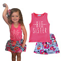 Girls clothing sets Girls sundress sets Ropa mujer Roupas infantis menina Kids clothing sets girl vest and skirt printing suits