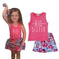 Girls clothing sets Girls sundress sets Ropa mujer Roupas infantis menina Kids clothing sets girl vest and skirt printing suits