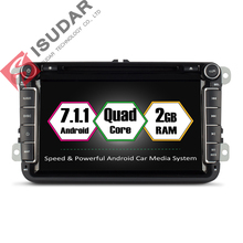 Isudar Car Multimedia Player GPS Android 7 1 2 Din Car Radio Audio Auto For Volkswagen