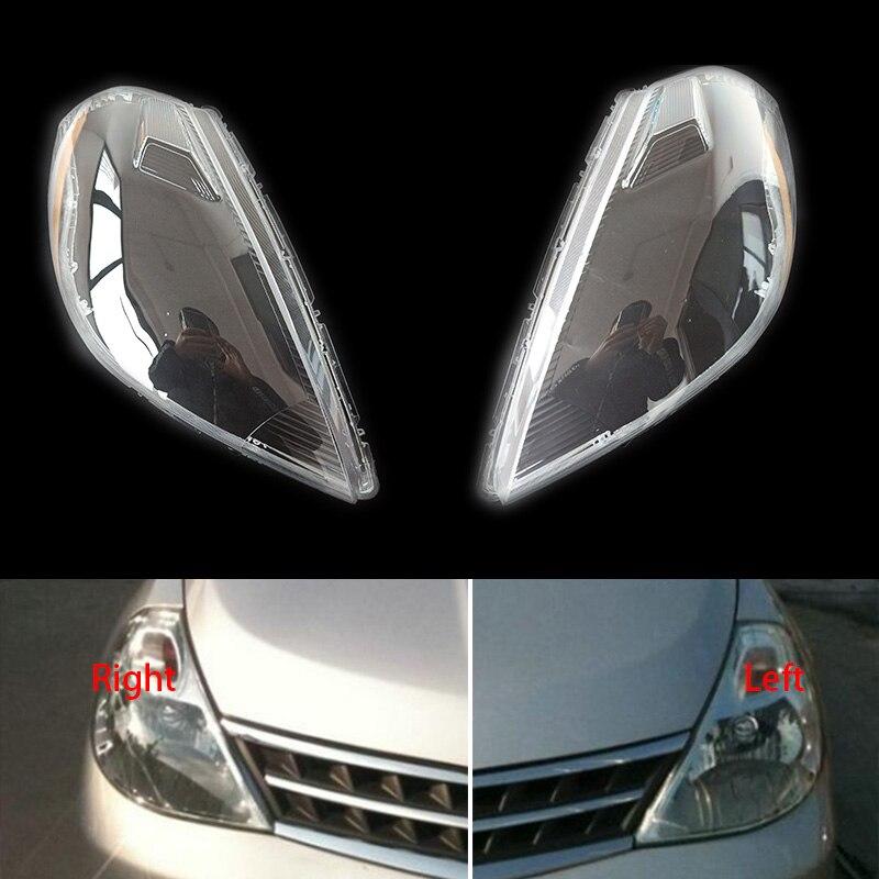 For Nissan Tiida 2005-2007 Headlight Cover Headlamp Shell Glass Lens Lampshade Transparent Shade Mask