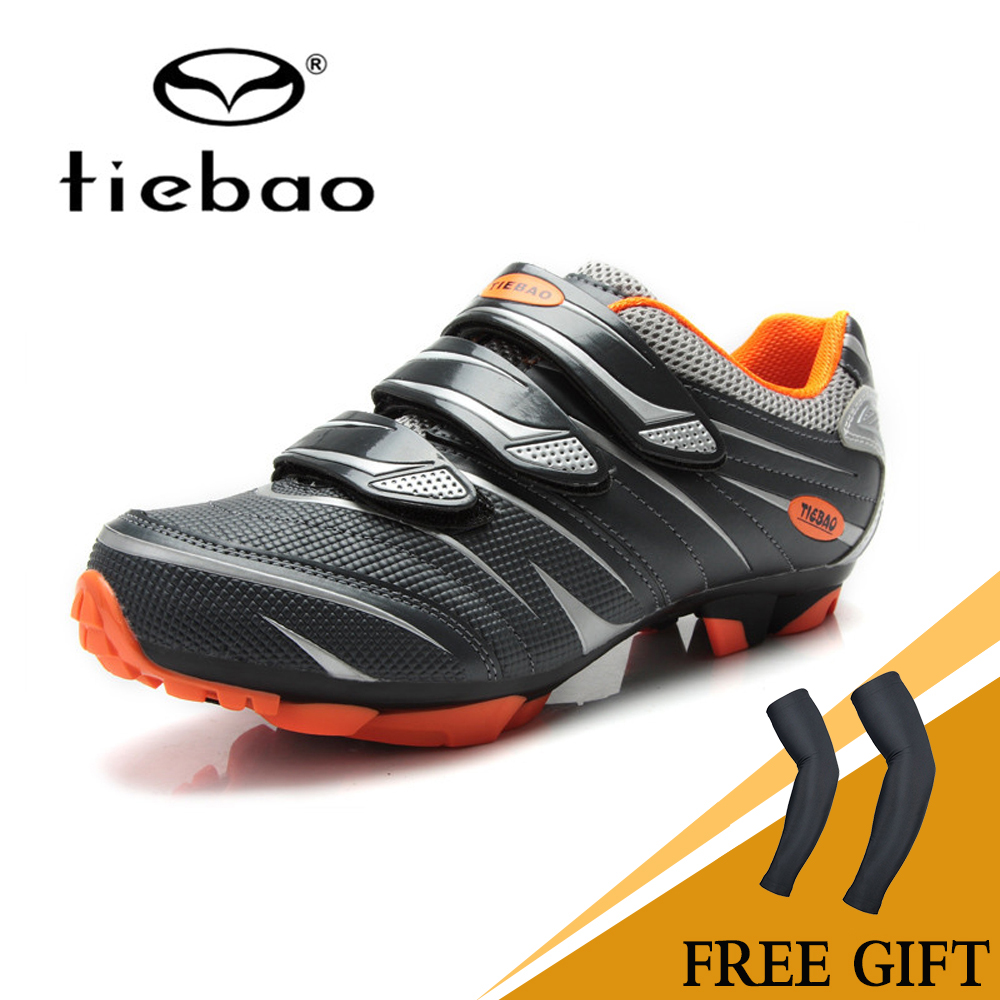TIEBAO Cycling Shoes Road Racing TPU Soles Mountain Bike Mtb Shoes Men Bicycle Sport Breathable Triathlon