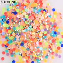 ZOTOONE 3-6mm 1000Pcs AB Colorful Flatback Non Hotfix Crystal Applique DIY Stones And Crystals Jewelry Nail Art Accessories E