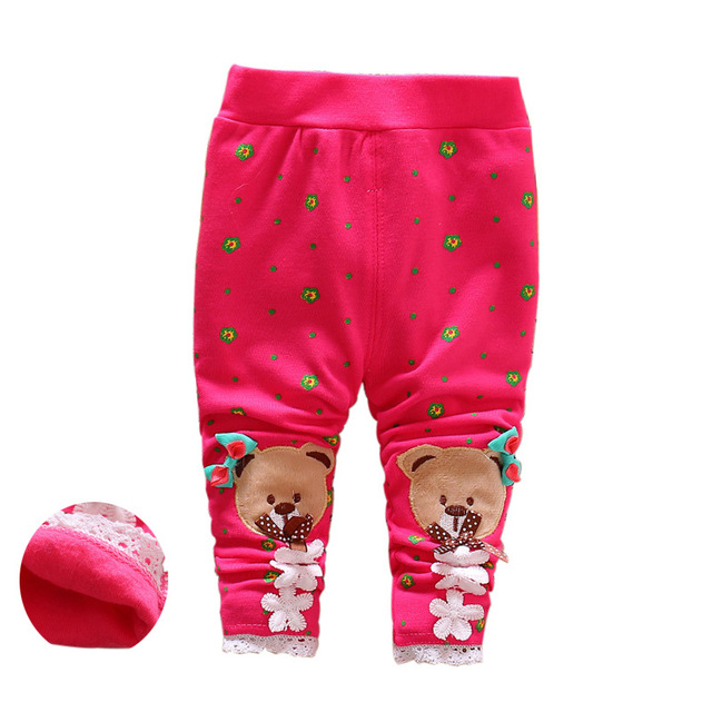 Spring and Summer thin material leggings girls lace leggings cute cartoon 0-3 years baby cotton pants baby pp leggings 2016 hot Baby Pants