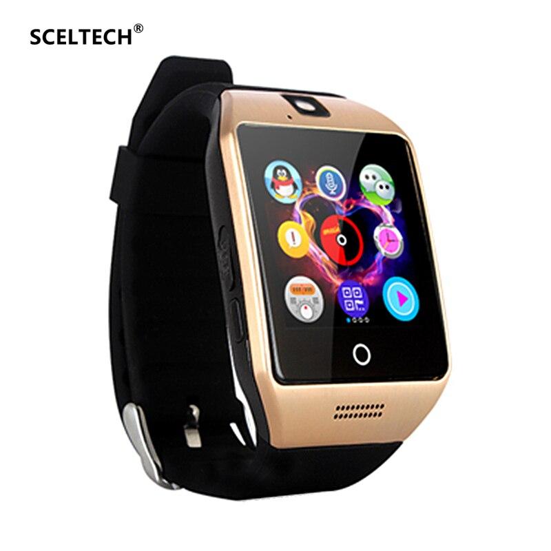 SCELTECH Smart Uhr Q18 Passometer mit Touch Screen Kamera Unterstützung TF karte Bluetooth Smartwatch für Android IOS Telefon