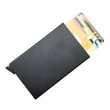 Popular titanium business cards buy cheap titanium business cards automatic aluminum credit card holder men women alloy business id multifunction card holders cardholder for man colourmoves