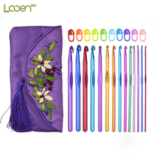 14 Pcs Looen Mix Sizes Crochet Hook Set With Case 2.0mm-10mm Hooks Stitch Markers Women Mom Yarn Weave DIY Tools
