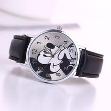 O.T.Sea Brand 2018 Cute cartoon quartz wristwatch children leather Ladies watch