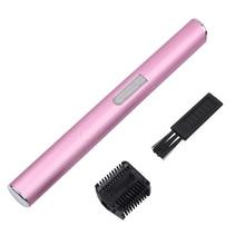 Pink Color Practical Electric Face Eyebrow Scissors Hair Trimmer Mini Portable Women Body Shaver Remover Blade Epilator