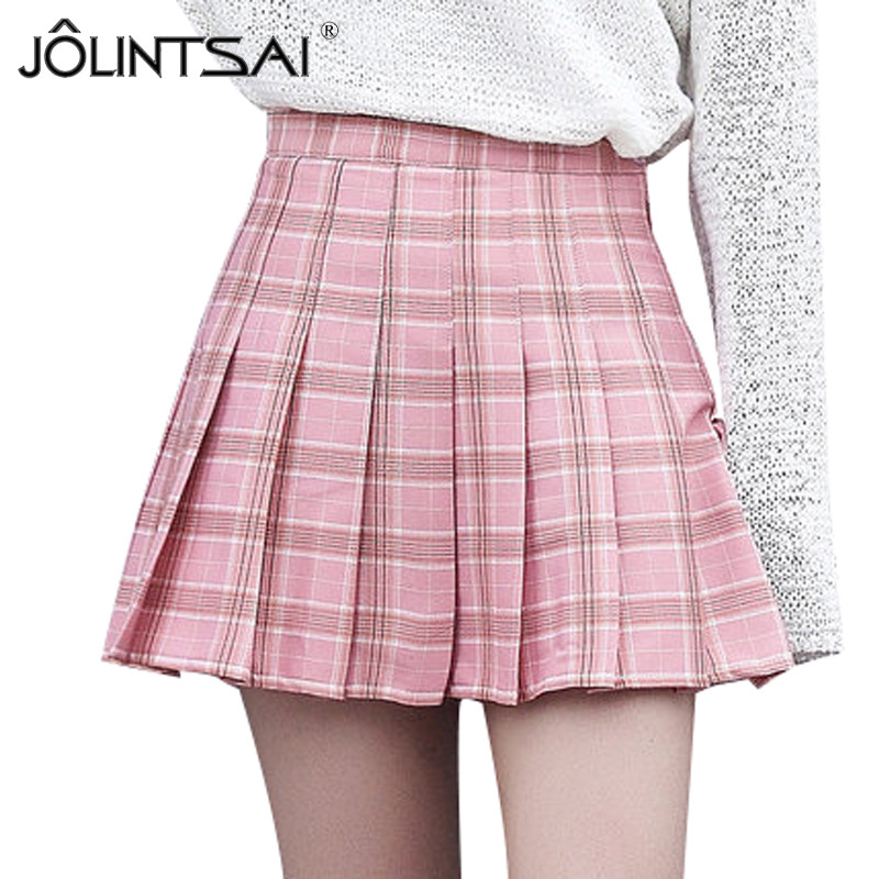 Popular Pink Plaid Skirt-Buy Cheap Pink Plaid Skirt lots from ...