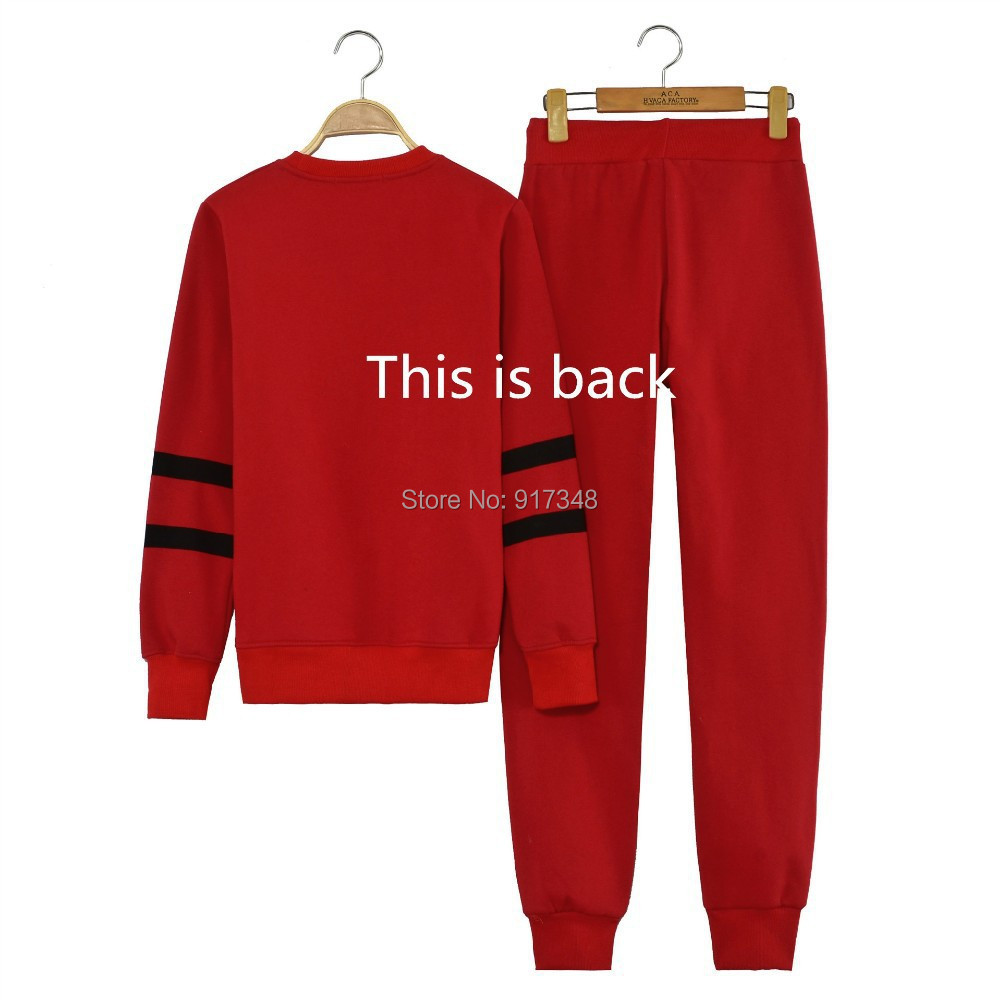 Girl's Ladies Women's Black or Red Sportwear Set CC Sweatershirts and Pant Autumn Or Spring Sweatshirt Hoodies