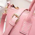 Girl summer Candy colors Leisure PU one shoulder cross-body handbag women's double-shoulder travel Messenger Bag School Bags