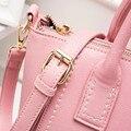 Muchacha Del Caramelo Del verano colores Ocio PU hombro cruzada cuerpo bolso de las mujeres Bolsa de Mensajero de viaje de doble hombro Bolsas de la escuela