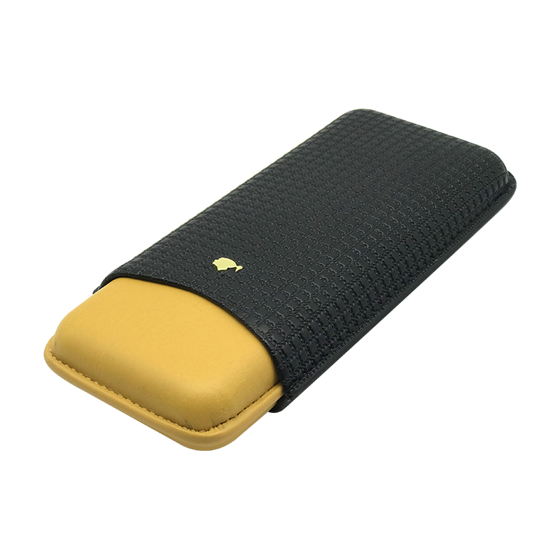 COHIBA Cigar Leather 3 Tubes Cigar Travel Holder Case Humidor Gift Box