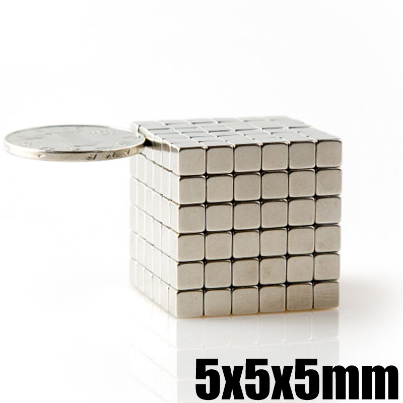 125Pcs 5x5x5 Neodymium Magnet Buck Cube 5mm N35 Super Strong Powerful DIY Puzzle Magnetic Magnets Permanent NdFeB Square 3 x 5mm ndfeb neodymium magnet circular cylinder diy puzzle set silver 100 pcs