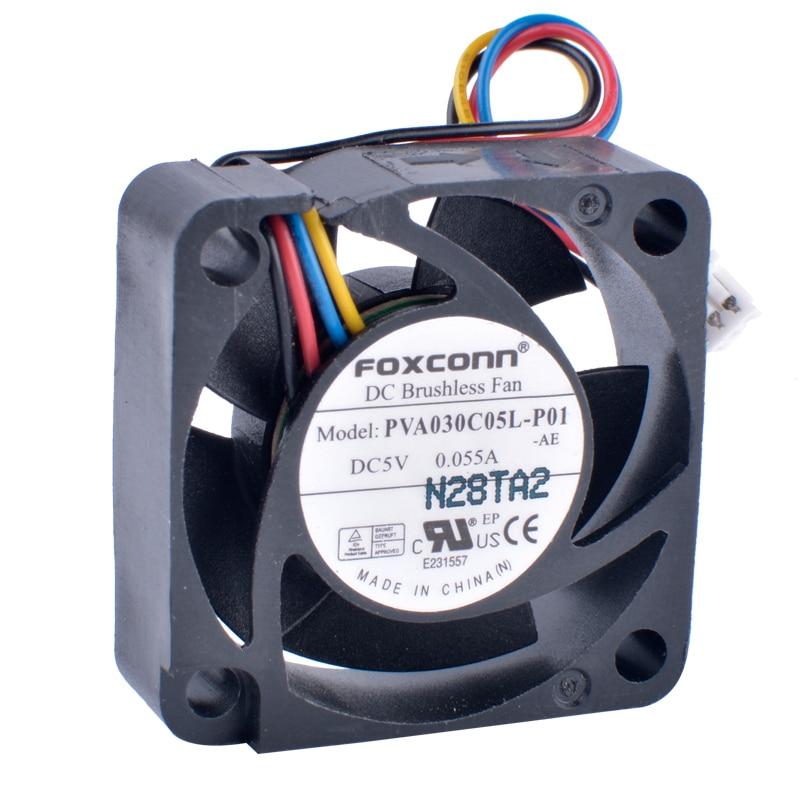 COOLING REVOLUTION PVA030C05L-P01 3010 3cm 30mm Fan 5V 0.055A 4-wire 4Pin Laptop Ultra Quiet Hydraulic Fan