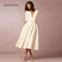 Vintage Spring Summer Dress Women 2019 Casual Plus Size Elegant Long Party Dress Female Sexy V Neck Ball Gown White Dresses 3XL