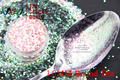 TCR18 Americano Fantasía Colorido Rosa polvo del brillo del color Iridiscente Punto Redondo Forma para uñas de Arte u otros DIY decoración
