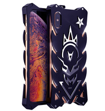 цена на For iPhone XS XR XS Max case cover Shockproof Armor Metal Aluminum for iPhone x xs max xr  Bumper Coque Fundas Heavy Duty Case