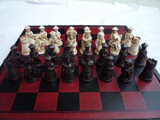 "Коллекция старый резьба по кости шахматы, ""Император"""