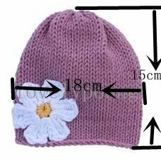 Длительность цветок шапки хлопок шляпы Детские вязаная шапка из мягкого хлопка