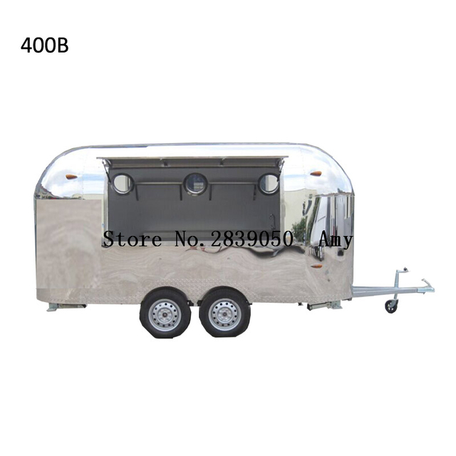 e61d09f016 Stainless steel collapsible food cart mobile food truck cart for fast food  used food cart for