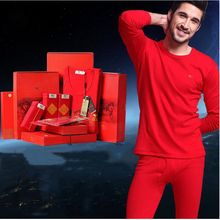 110209/Men Thermal underwear One set 100% cotton Autumn clothing cotton sweater set/V-neck/Round neck/ Comfortable fabrics