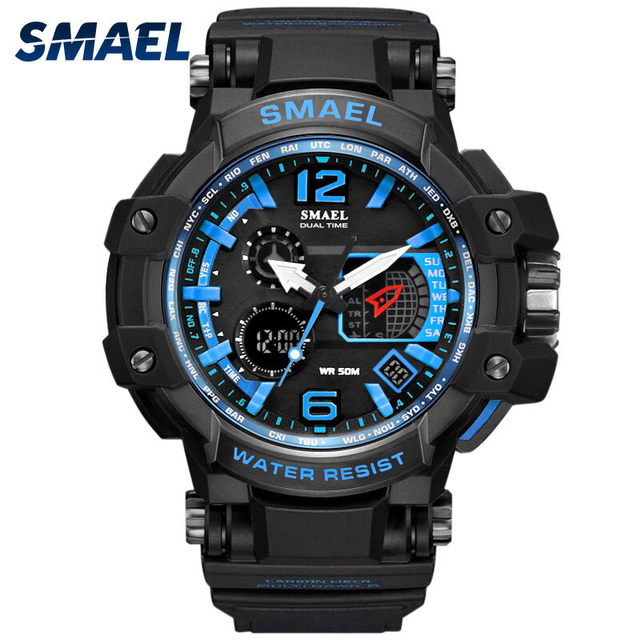 SMAEL Fashion Sport Watch Men 30M Waterproof S Shock Wristwatch 1509 Men  Digital LED Watch Clock Relogio Digital Reloj Hombre e3ff0fdd89