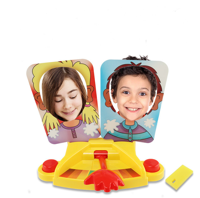 New Double Person Pie cake to Face Family Game Showdown Challenge Prank Jokes Gags Anti Stress Toy for Kids