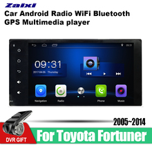 ZaiXi 7 Inch 2Din Android Car Radio Wifi Autoradio HD 1024*600 Tochscreen GPS Multimedia Player For Toyota Fortuner 2005~2014