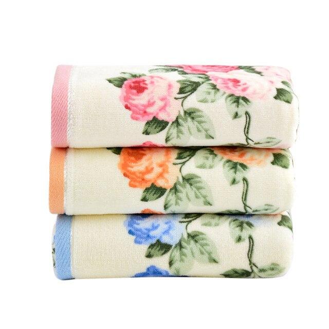 34*75 cm Morbido Cotone Fiore Faccia Asciugamani In Fibra di Bambù Asciugamano A