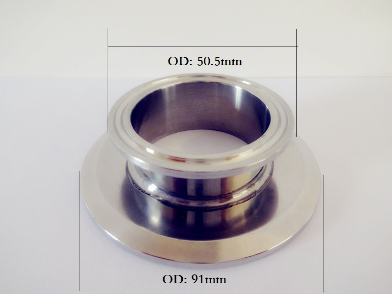 Free Shipping  Short Type Tri Clamp Reducer 1.5(38mm) OD50.5 x 3(76mm)OD91, Sanitary Stainless Steel 304 Connector