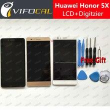 Для Huawei Honor 5X ЖК-Дисплей + Сенсорный Экран + Инструменты FHD 100% Новый Замена Дигитайзер Ассамблеи Для Huawei Honor 5X Телефон