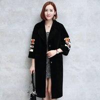 Mouton Coat female jacket wool women's fur coat Women's winter jackets real furs women's fur coats winter big size