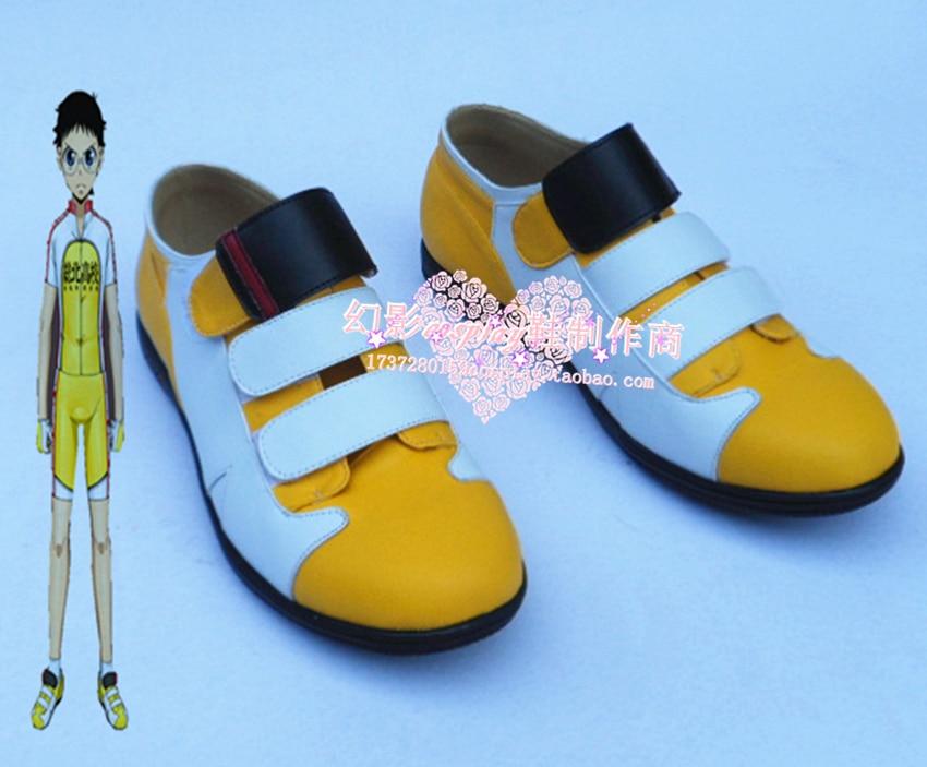 Yowamushi Pedal Onoda Sakamichi Cosplay Halloween Yellow Shoes H016