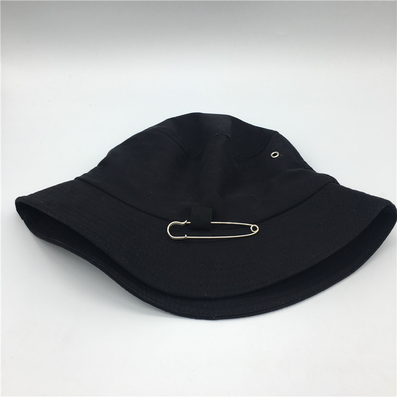 52e4b547817fe Hot selling 2019 SUGA Fashion K POP Iron HOLE WITH PIN Bucket Hats popular  style cap 100% handmade -in Men s Bucket Hats from Apparel Accessories on  ...
