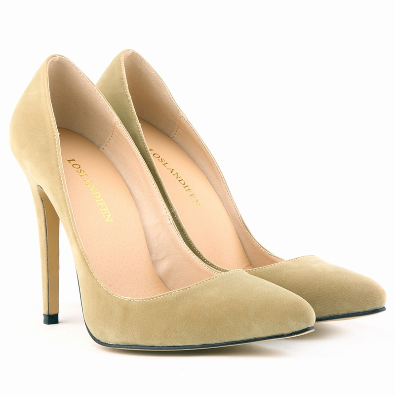 Europe style sexy thin heel pointed toe women bridal pumps classic faux suede super high heels shallow woman party wedding shoes spring autumn woman shoes cow suede shoes high heels sexy party pumps fashion women s pointed toe thin heel ankle boots 34 41
