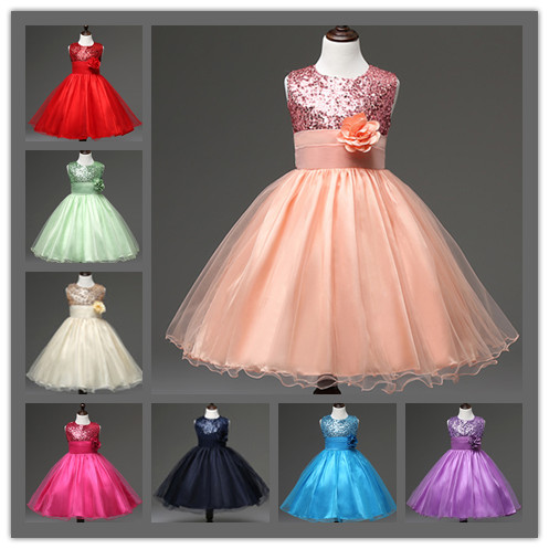 Buy Cheap Summer 2017 New Girl Dress Baby Girls Dresses Princess Party TuTu Dress Sequins Decorative Baby Clothing Kids Clothes10 Color 28