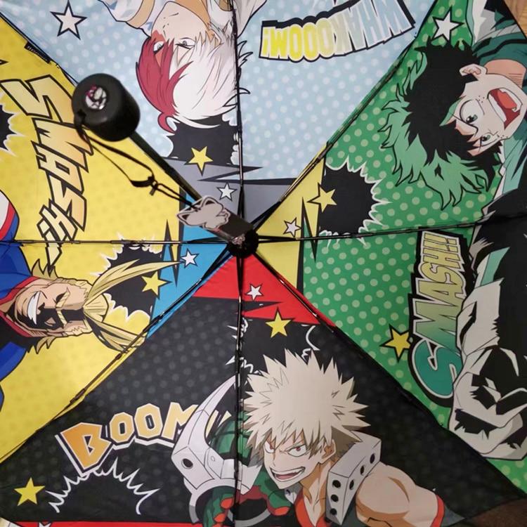 Novelty & Special Use My Hero Academia Folding Umbrella Boku No Hero Academia Rain Umbrellas Parasol For Men Women Cosplay Prop Collectible Collection Costume Props